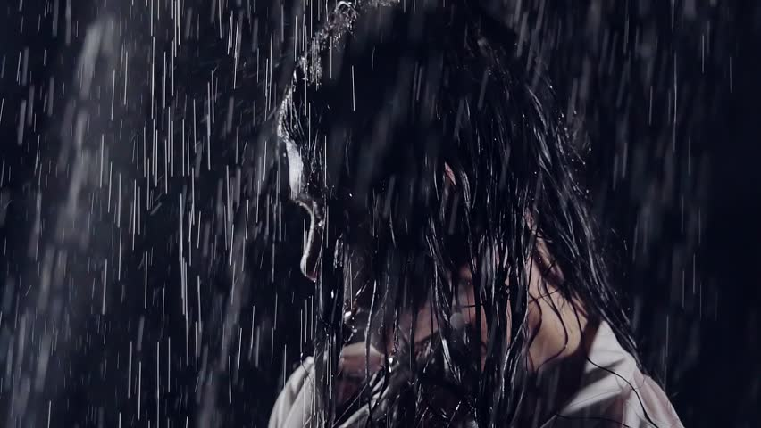 Stock video of wet in the rain in the | 29158576 ...