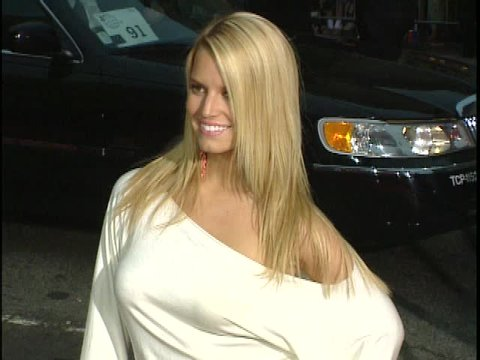 Hollywood, CA - JUNE 27, 2003: Jessica Simpson, Nick Lachey, walks the red carpet at the Charlie's Angels Full Throttle Premiere held at the Grauman's Chinese Theatre