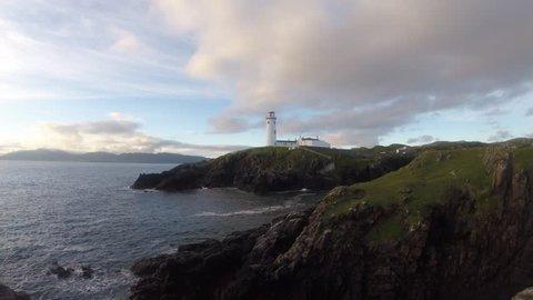Fanad Head in Donegal - Ireland/ Fanad Head lighthouse/ View on Fanad Head lighthouse in Donegal - Ireland.