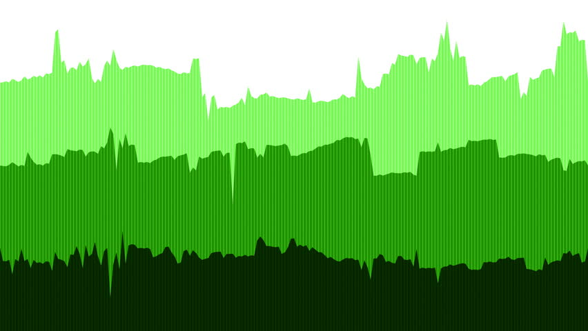 Green Data Line Graph. Full screen saver loop of data points fluctuating randomly on a horizontal side scrolling graphic chart. | Shutterstock HD Video #29221846