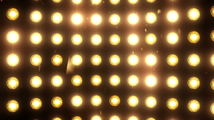 Bright flood lights background with particles and glow. | Shutterstock HD Video #29228386