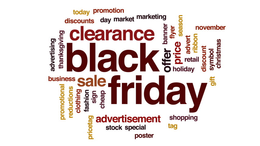 Black Friday animated word cloud, text design animation. | Shutterstock HD Video #29281576
