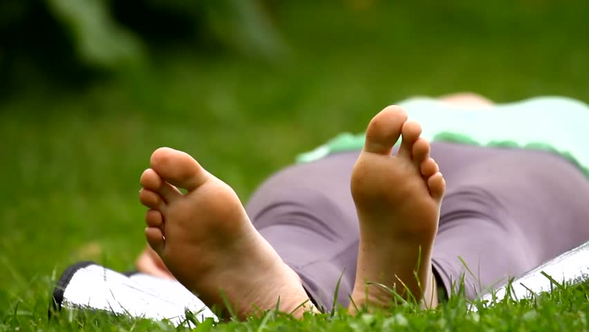 Girl Feet, Lying Down In Stock Footage Video 100 Royalty -8001