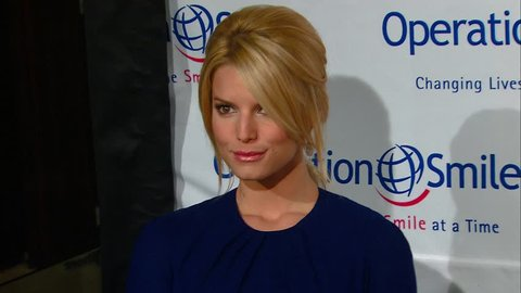 Beverly Hills, CA - OCTOBER 05, 2007: Jessica Simpson, walks the red carpet at the Operation Smile 25th Anniversary Gala held at the Beverly Hilton Hotel