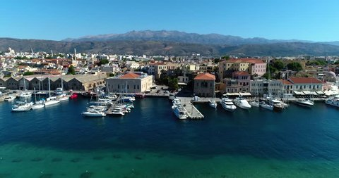 3 in 1. Chania city, Crete, Greece. Aerial view. Part 2.