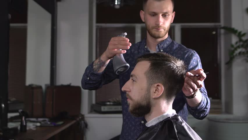 Image Of Stylish Male Barber Stock Footage Video 100 Royalty Free 29479486 Shutterstock