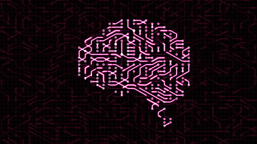 Seamless looping animation of a brain circuit board. 16-Bit. 4K UHD.  | Shutterstock HD Video #29492116