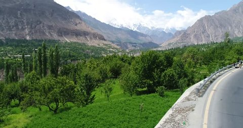 Hunza Valley Aerial C