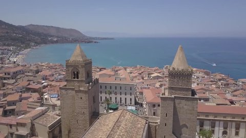Sicily architecture aerial view