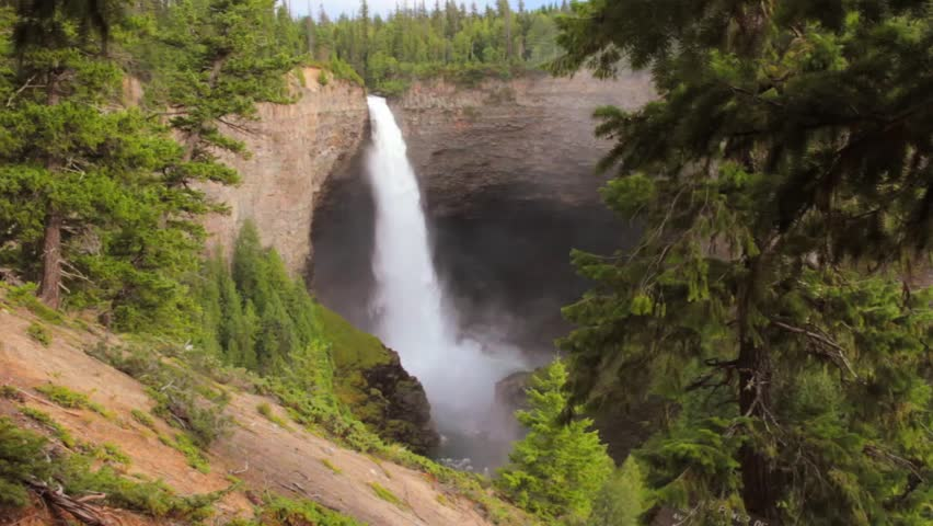 Famous Helmcken Falls in Wells Grey Provincial Park, close to Yellowhead Highway, Canada