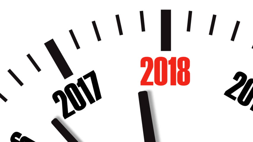 Animation of clock countdown from year 2017 to 2018. UltraHD 4K video footage. | Shutterstock HD Video #29654416