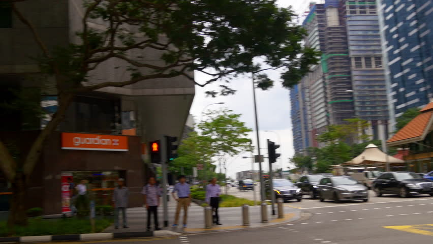SINGAPORE - JANUARY 2016: day time singapore downtown city traffic street panorama 4k circa january 2016 singapore. | Shutterstock HD Video #29701186