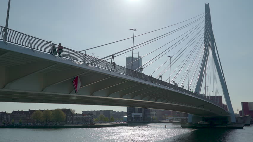 Rotterdam Netherland June 10 2017: The long bridge under the heat of the sun in the city of Rotterdam in Netherlands #29740516
