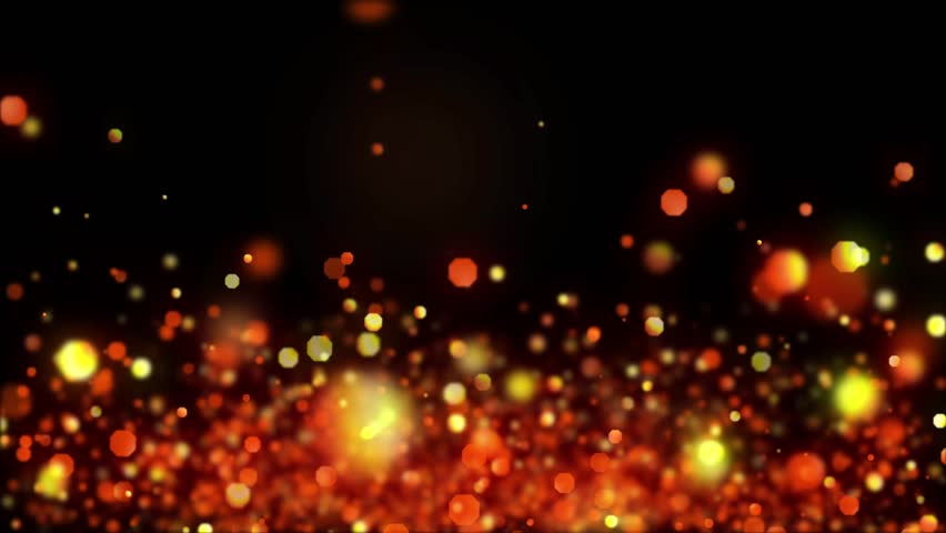 Abstract Shiny Glitter Particles Fire Bokeh Abstract