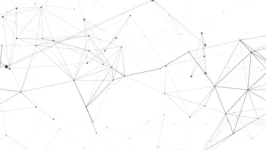 Network animation connected dots on white background. Seamless loop 4K