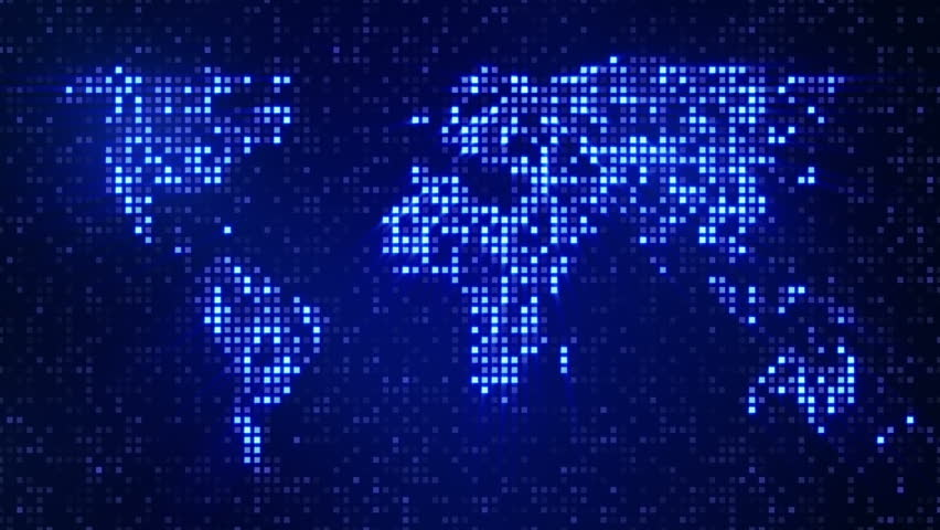 Digital blue world map loop stock footage video 2975536 shutterstock sciox Image collections