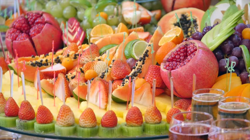 Different Fresh Fruits On Wedding Stock Footage Video 100 Royalty Free 29830846 Shutterstock