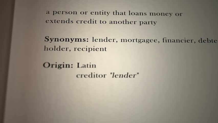 Header of creditor