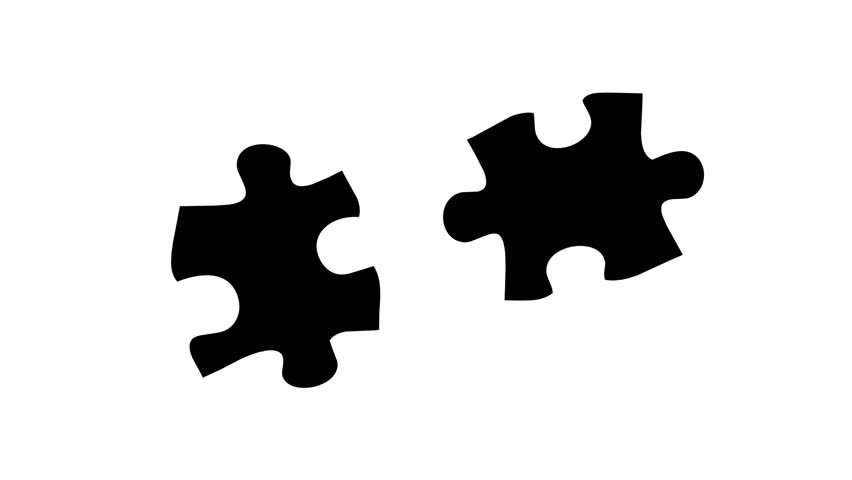 Stock Video Of Matte Background Puzzle Effect 2 Pieces