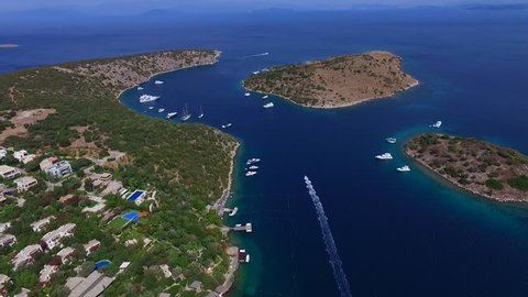 Bodrum's aerial view