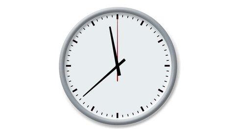 Analog clock spinning, watch animation