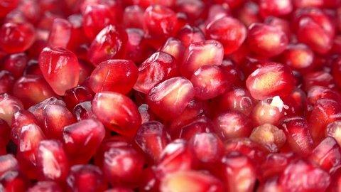 Rotating Pomegranate Seeds (seamless loopable 4K UHD footage)