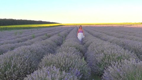 Woman on lavender field, Bulgaria