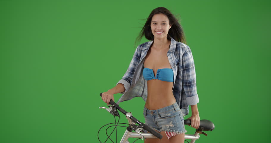 Something is. girls in bikini riding a bicycle share