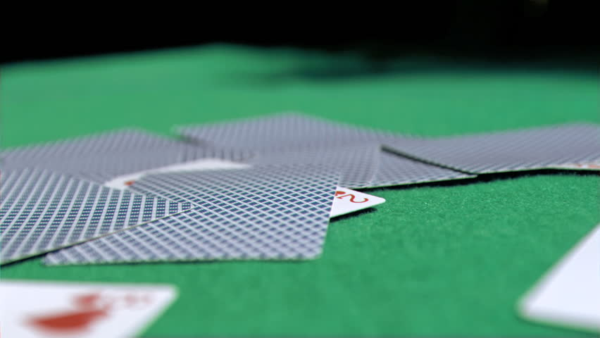 Stock Video Clip Of Playing Card In Super Slow Motion Falling | Shutterstock