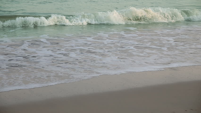 Closeup Calm Waves of the Sea.Nature background. Evening beautiful HD video  | Shutterstock HD Video #30126826