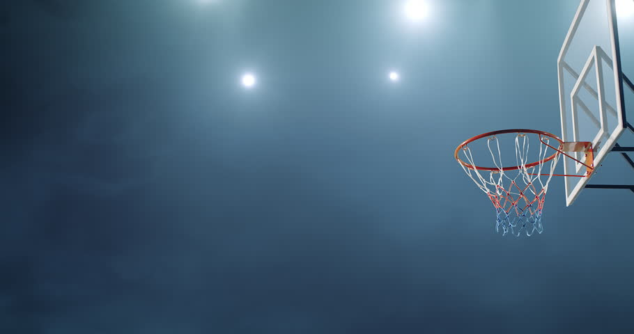 Basketball player makes a slam dunk during a game. He wears unbranded sport clothes. | Shutterstock HD Video #30128842