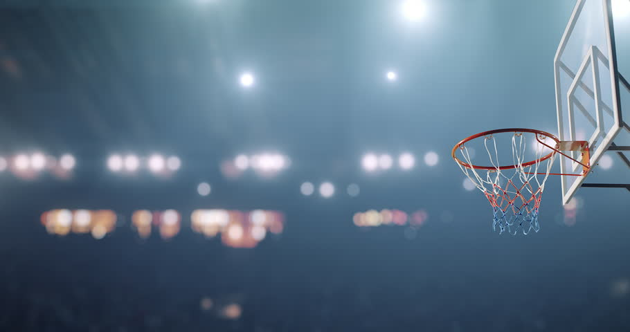 Basketball player makes a slam dunk during a game. He wears unbranded sport clothes. | Shutterstock HD Video #30128875
