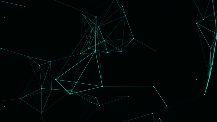 Abstract beautiful geometric background with moving lines, dots and triangles. Plexus fantasy abstract technology. Loop animations. | Shutterstock HD Video #30129700