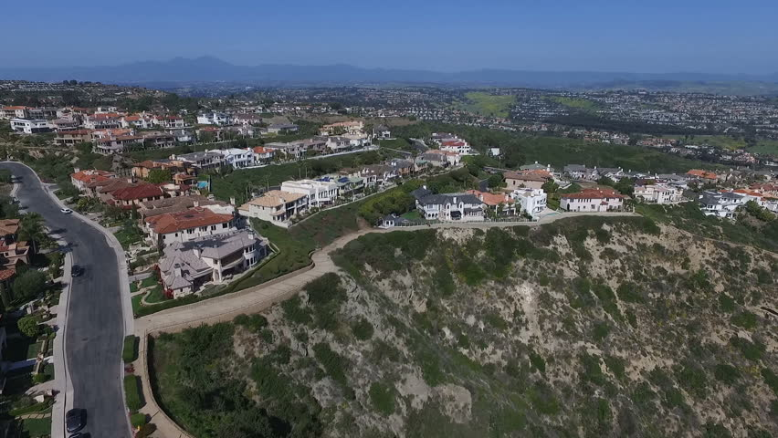 Aerial of Residential Real Estate Orange County California USA.mov