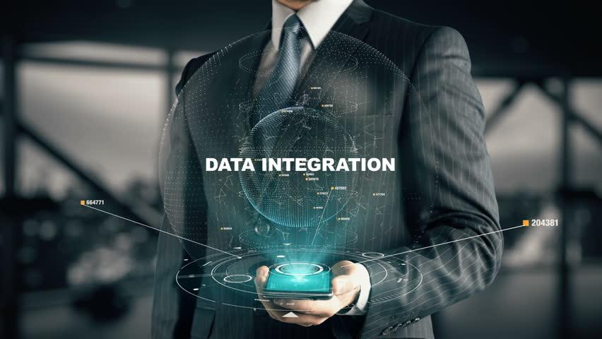 Businessman with Data Integration