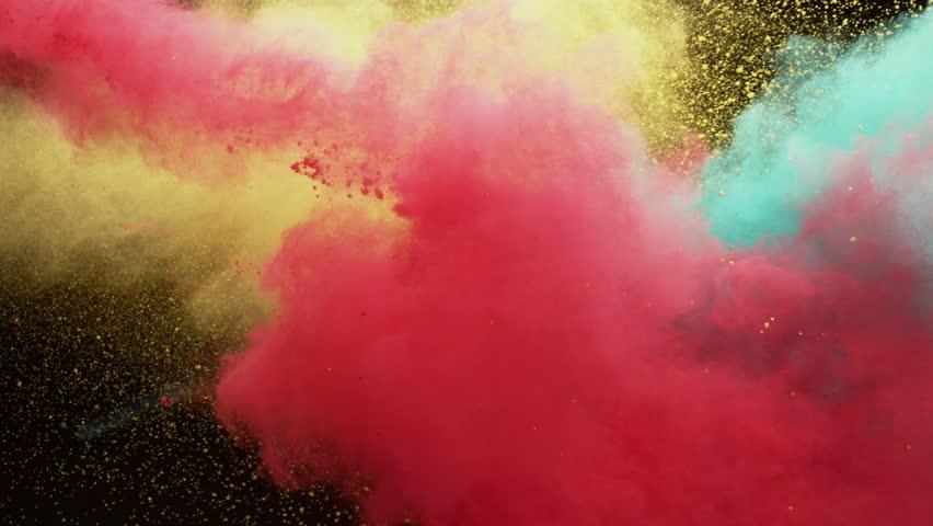 Colorful powder / black background