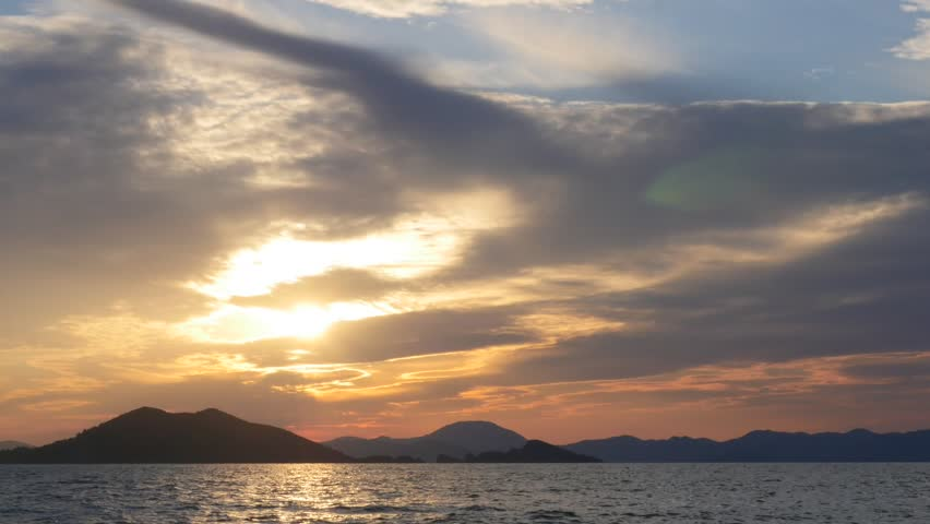 Sunset timelapse fethiye oludeniz beach time lapse sea and clouds | Shutterstock HD Video #30227686