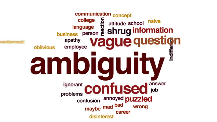 Header of ambiguity