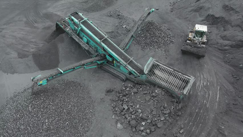 Open pit mine, breed sorting, mining coal, extractive industry | Shutterstock HD Video #30253276