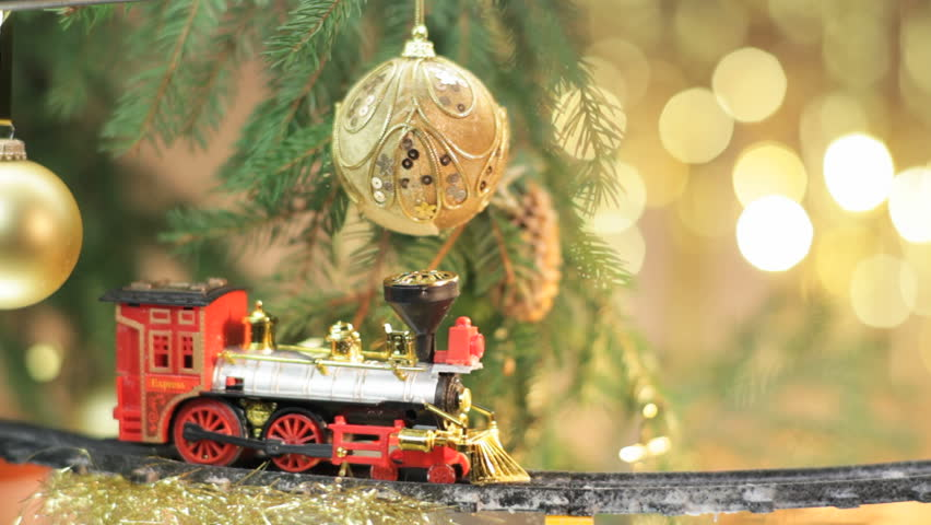 Christmas Tree Train.Christmas Train On Christmas Tree Stock Footage Video 100 Royalty Free 3025576 Shutterstock