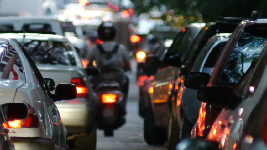 Traffic Jam in the city. Dusk. | Shutterstock HD Video #3026296