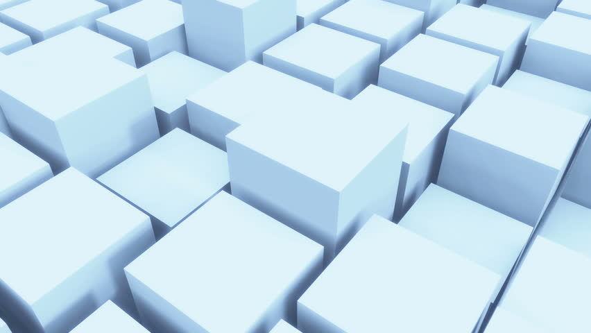 4k tech blockchain data background,abstract 3d white cubes animation.cg_03968_4k