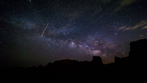 The Milky Way Timelapse from Joshua Tree National Park, California