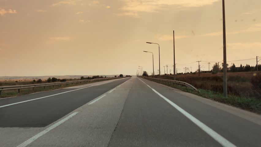 Car on the road, shot through the windshield   Shutterstock HD Video #30309196