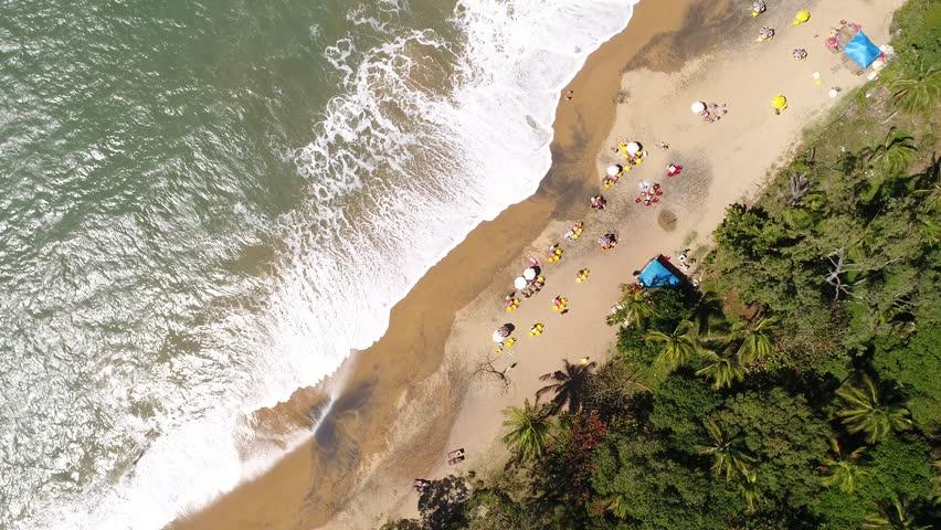 Top View of Jabaquara Beach in Ilhabela, Brazil
