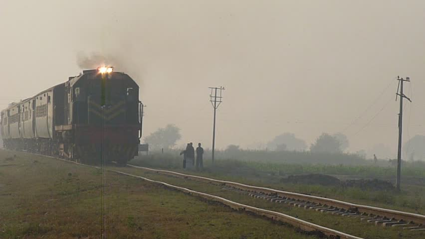 Pakistan Railways Train Passing a Country Side | Shutterstock HD Video #3047506