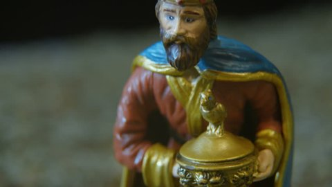 Caspar one of the Biblical Magi who visited the infant Jesus after he was born. Caspar is traditionally referred to as the King of India and gave the gift of frankincense to Jesus.