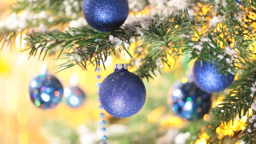 Christmas Tree Balls.Blue Christmas Balls On Christmas Stock Footage Video 100 Royalty Free 3057736 Shutterstock