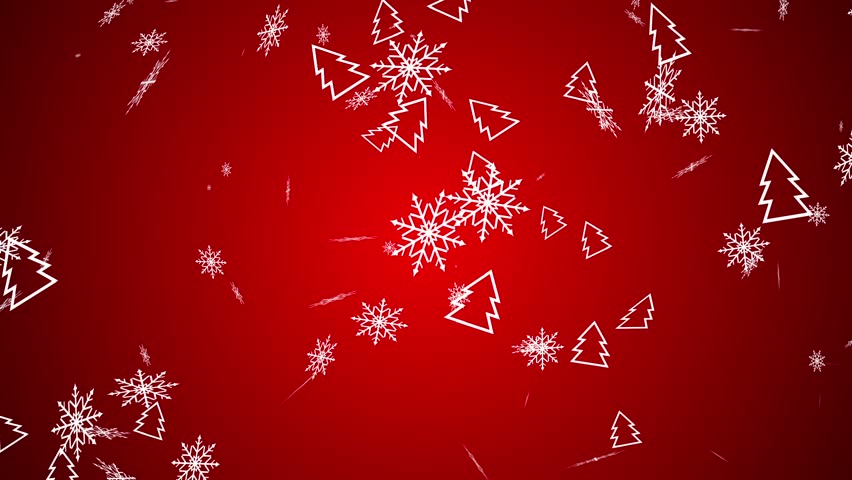 Christmas Snowflakes Falling On Red Background. Seamless Loop Animation. More Color Options In My Portfolio. | Shutterstock HD Video #30577846