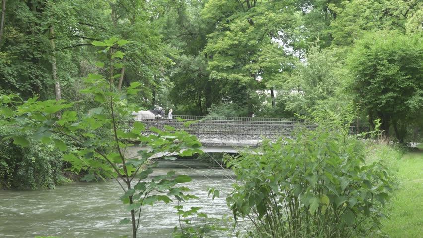 Munich Germany June The Englischer Garten In Munich